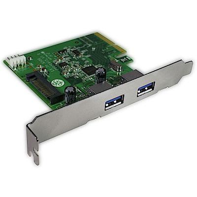 Hornettek-PCI-E USB3.1 雙 PROT擴充卡