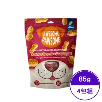 紐西蘭AWESOME PAWSOME寵願星無穀零食-蔓越莓佐花生醬 3OZ(85G) (AP-77034) (4包組)