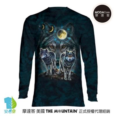 摩達客 美國進口The Mountain 北極星狼群 純棉長袖T恤