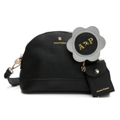 Arnold Palmer- 貝殼斜背包 小花貝殼包系列-黑色