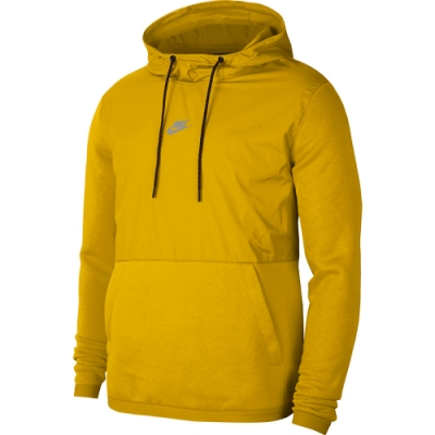 NIKE 上衣 連帽上衣 帽T 運動 訓練 刷毛 保暖 男款 黃 CU4102743 AS M NSW JDI+ HOODIE PO FLC MI