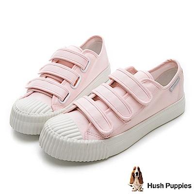 Hush Puppies 復古魔鬼氈餅乾鞋-粉色