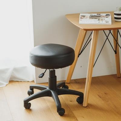完美主義 獨立筒坐墊皮革電腦椅/升降/旋轉/圓形工作椅/辦公椅/書桌椅-DIY(3色)