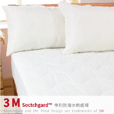 bedtime story專利3M防潑水加高床包式保潔墊-雙人5x6.2尺