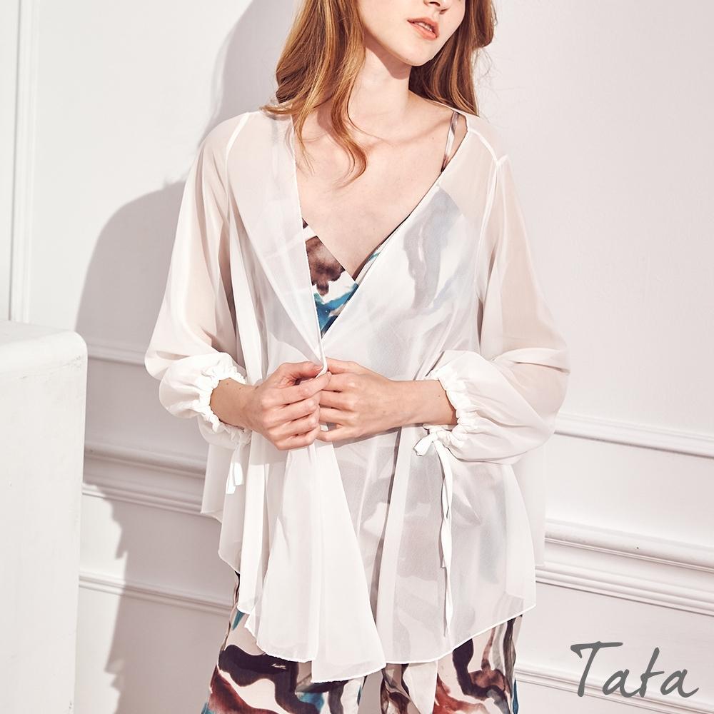 薄紗鬆緊袖口開衫外套 TATA-F
