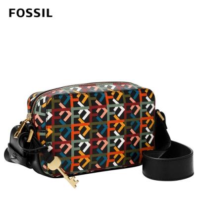 FOSSIL 母親節優惠 Billie 簡約方方立體斜背包-Logo印花 ZB1425757