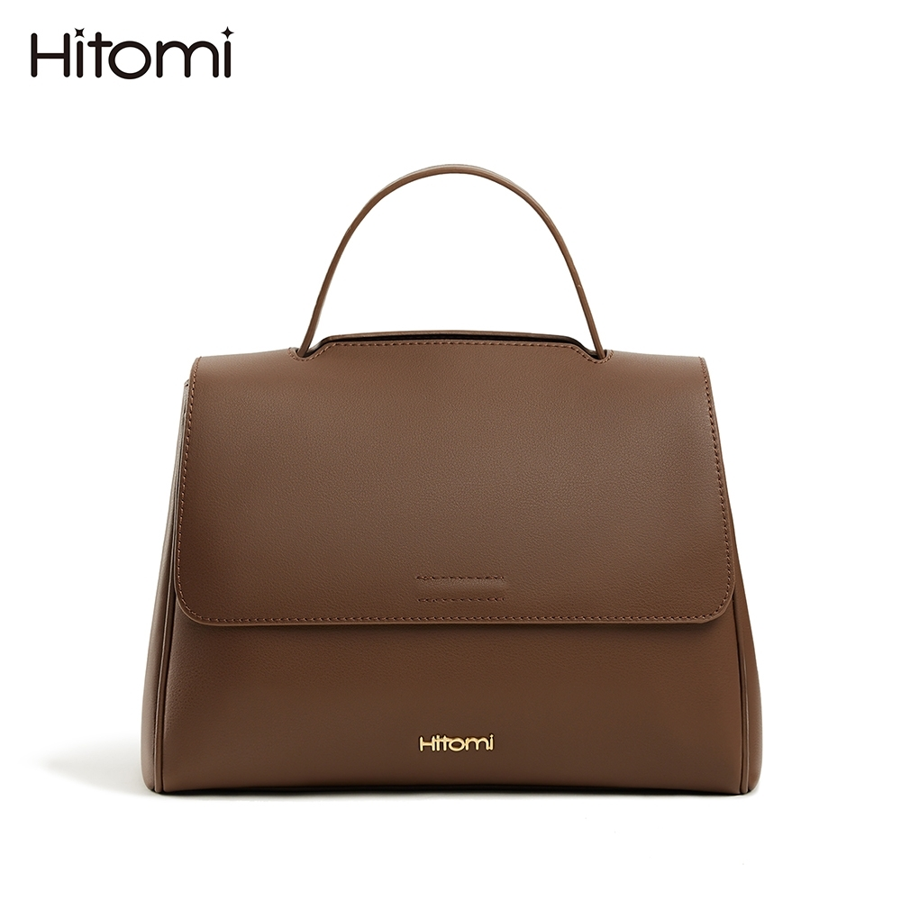 【Hitomi】韓系氣質三用梯形手提包/肩背包/斜背包(榛果咖啡色12205CF)