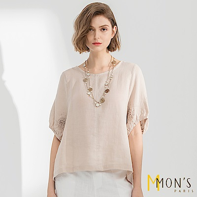 MONS  品味生活刺繡蕾絲上衣
