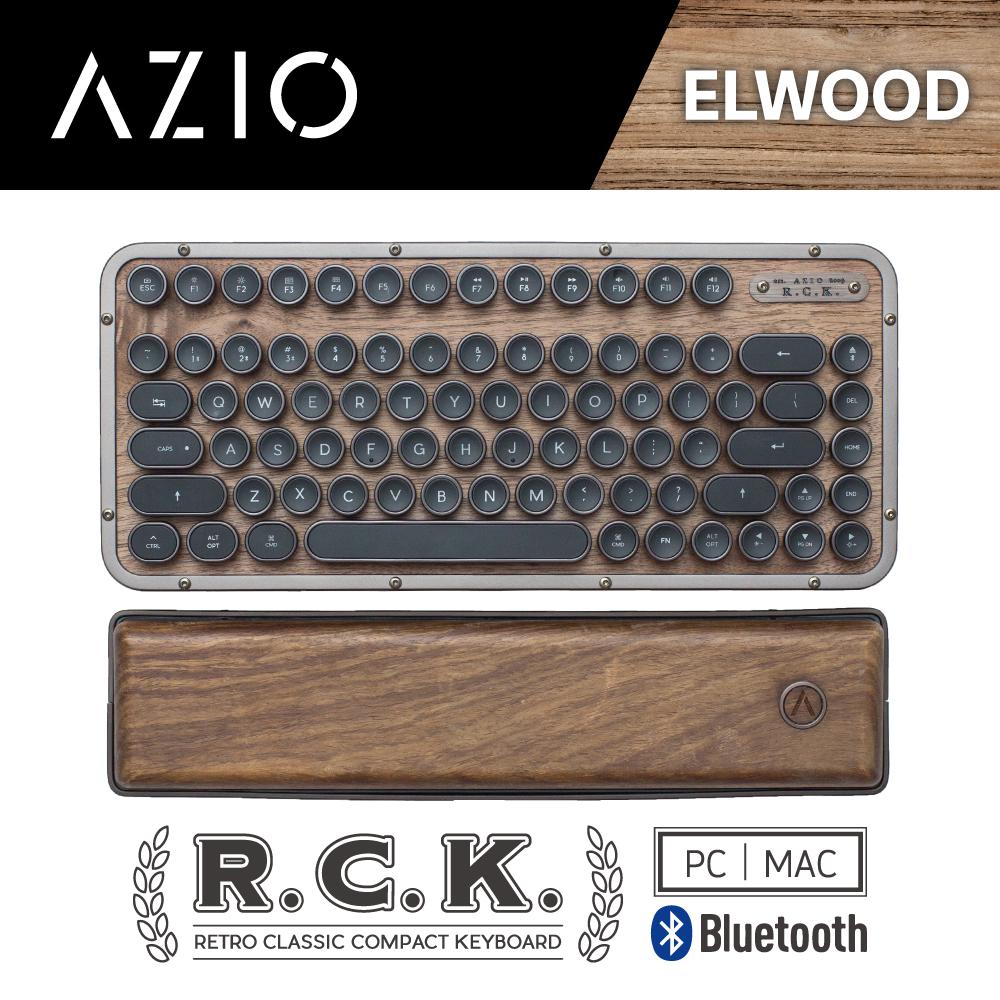 AZIO R.C.K. ELWOOD BT 藍牙核桃木短版中文鍵盤(PC/MAC)