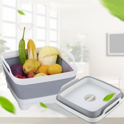 可折疊便攜式多功能洗菜籃廚房瀝水籃