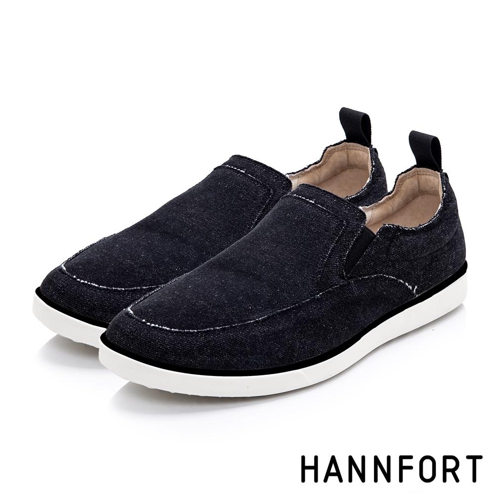 HANNFORT  CARIBBEAN編織休閒鞋 男 黑