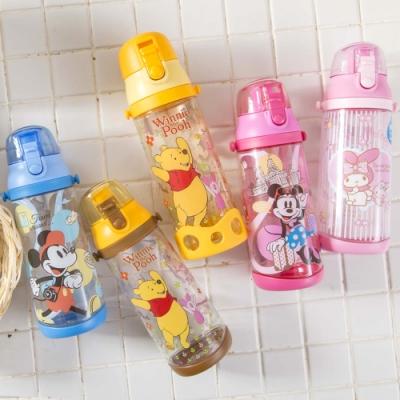 【優貝選】迪士尼 米奇 米妮 維尼 美樂蒂直飲式兒童背帶水壺