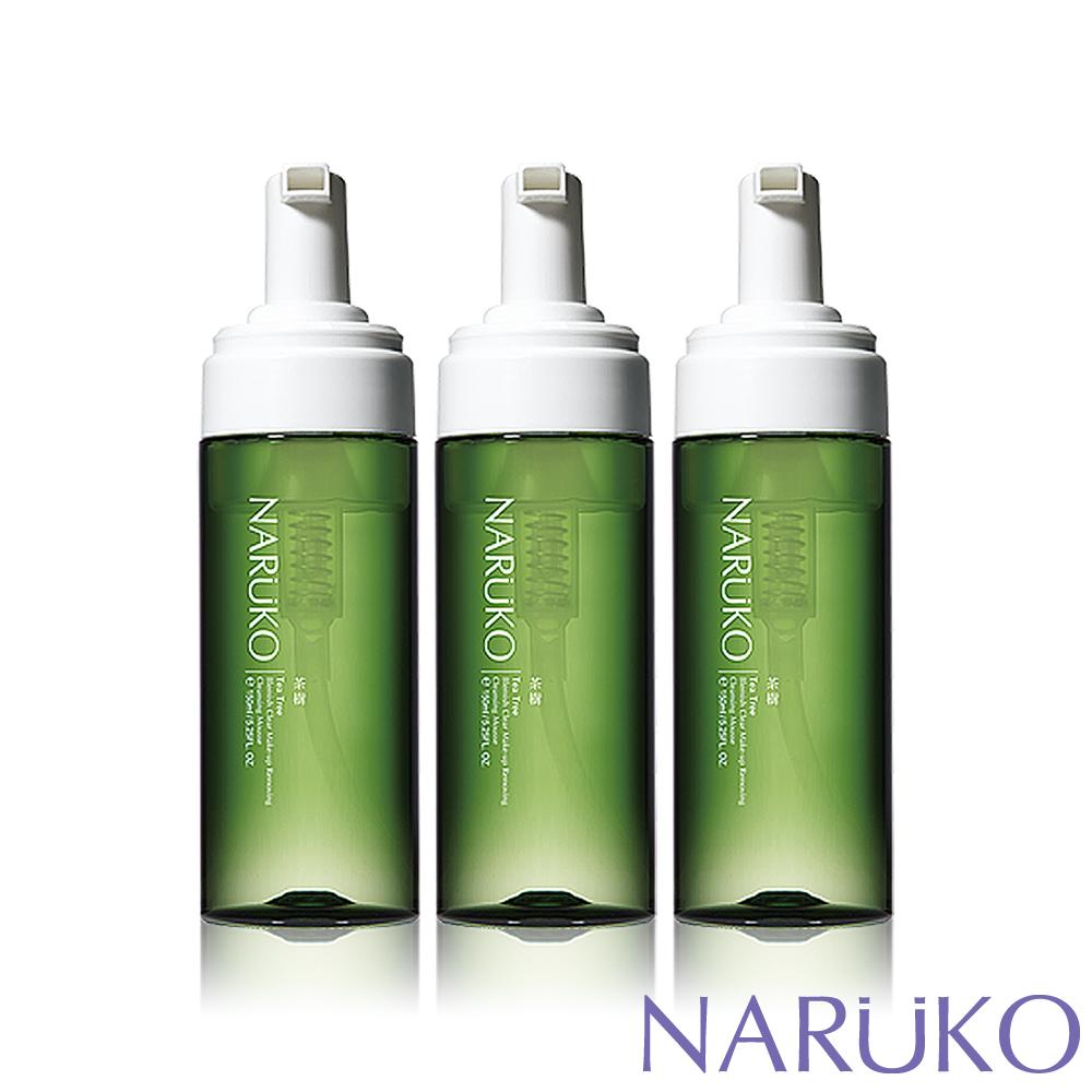 NARUKO牛爾【任3件出貨】茶樹粉刺快閃洗卸兩用慕絲 3入