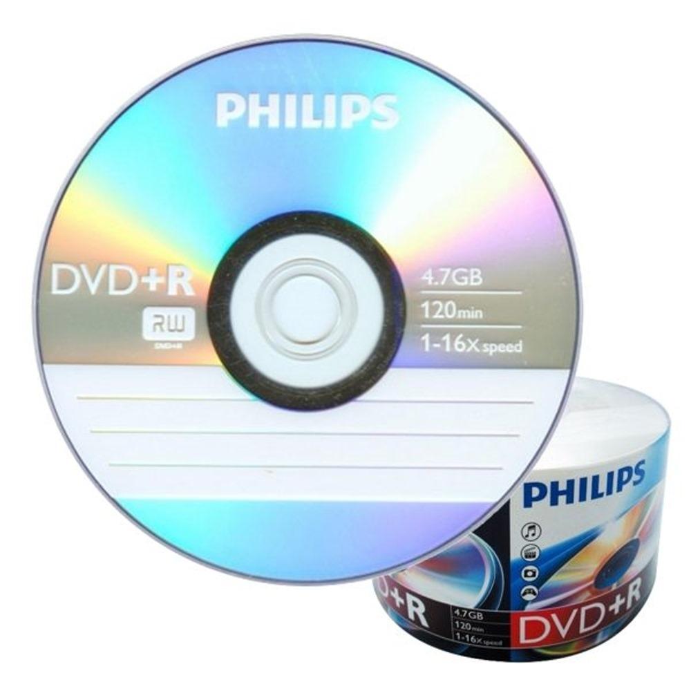 飛利浦 PHILIPS 空白光碟片 DVD+R 4.7GB 16X 光碟燒錄片X 100片