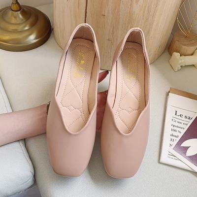 KEITH-WILL時尚鞋館 氣質OL百搭圓尖平底鞋-粉紅色