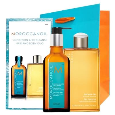 MOROCCANOIL 摩洛哥優油 三件限量禮盒(125ml+沐浴膠250ml+紙袋)-快