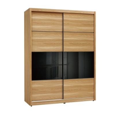 文創集 波卡洛4.9尺衣櫃(吊衣桿+三抽+穿衣鏡面+內開放層格)-147x60x206免組
