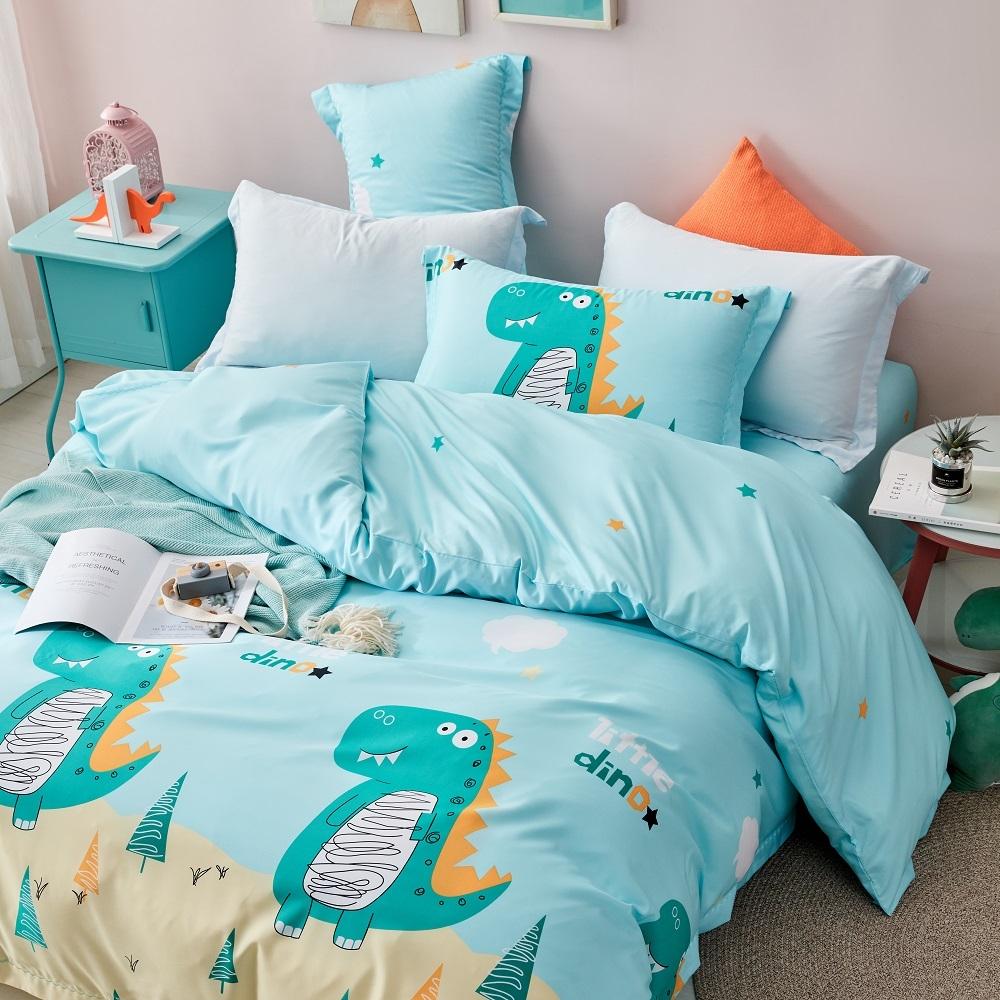 (買一送一)夢之語 3M天絲鋪棉床罩組(多款)-單/雙/大均價 (萌趣酷龍)