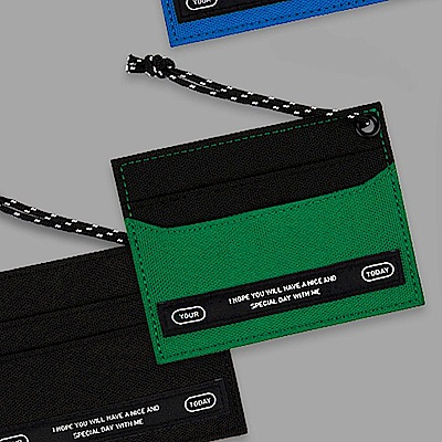 BNTP Today 個性色塊票卡夾-文青綠