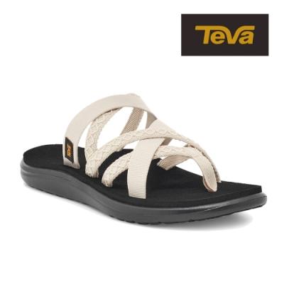 【TEVA】原廠貨 女 Voya Zillesa 交叉織帶夾腳拖鞋/雨鞋/水鞋(鄉村天鵝白-TV1117032MWSW)