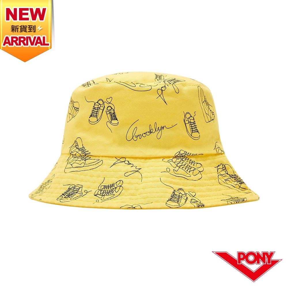 【PONY】雙面漁夫帽- 黃色