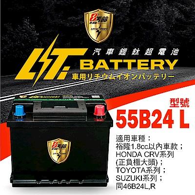 日本KOTSURU-8馬赫鋰鈦汽車啟動電瓶 55B24 L / 43Ah