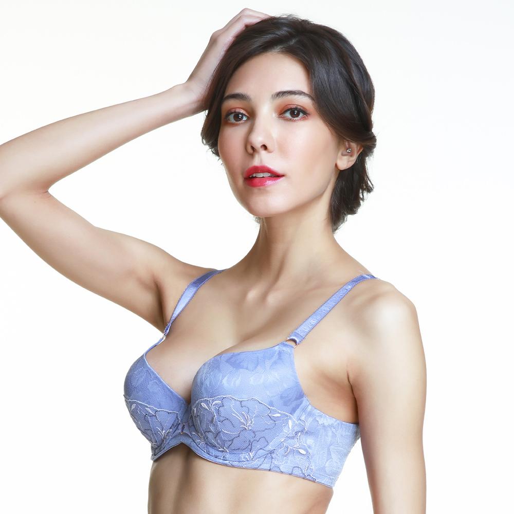 黛安芬-FLORALE 優雅杜鵑V型美背系列 C-E罩杯內衣 緹花紫 @ Y!購物