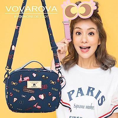 VOVAROVA x 莎莎-厚片吐司側背包-金莎假期-環遊世界系列