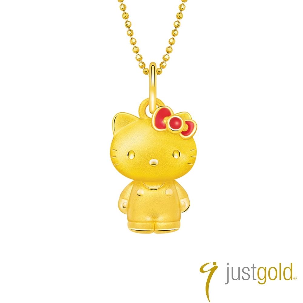 鎮金店Just Gold Lovely Memories純金系列 黃金墜子-kitty