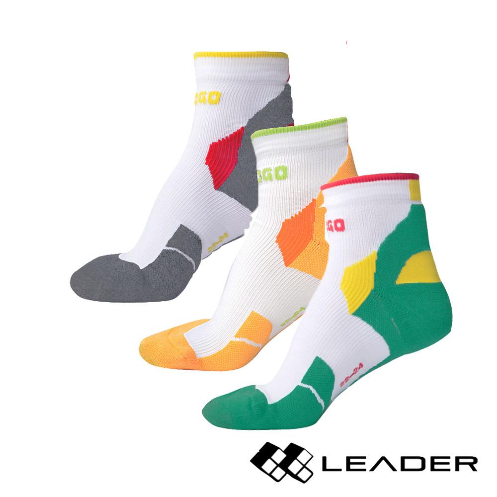LEADER  女款 透氣中筒 戶外健行 機能運動襪 6入組