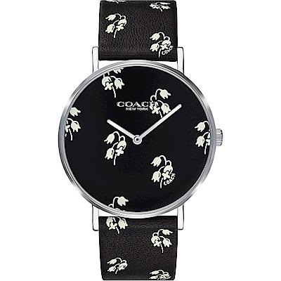 COACH 幸福桔梗 印花設計女錶(14503227)-黑色/36mm