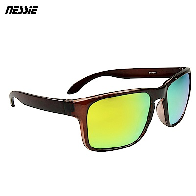 Nessie 尼斯眼鏡 經典休閒偏光太陽眼鏡-紅棕