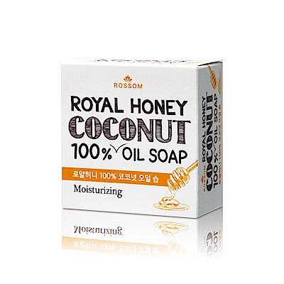 韓國ROSSOM-100%椰子油皇家蜂蜜彈力保濕美顏皂100g