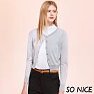 SO NICE時尚造型釦亮蔥針織上衣
