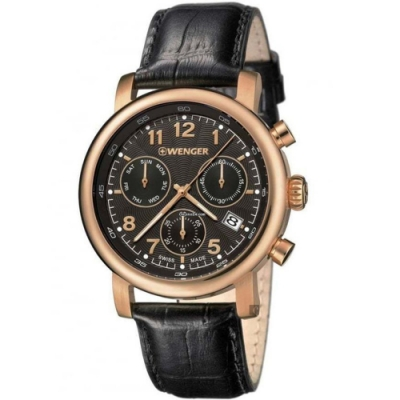 WENGER 威格 Urban 都市系列簡約三眼計時手錶(01.1043.107)-43mm