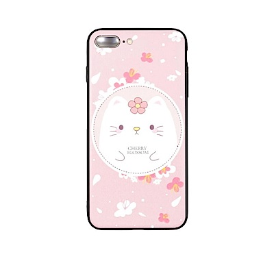 PKG Apple IPhone 6S Plus 彩繪空壓氣囊保護殼-浮雕彩繪-淺粉貓