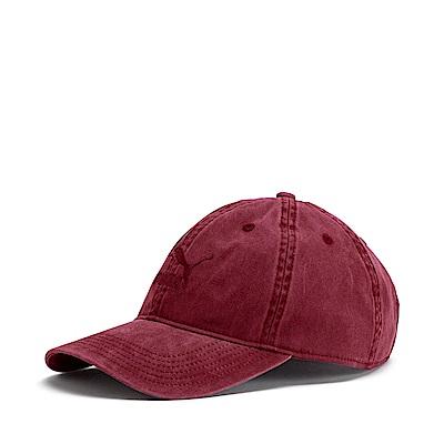 PUMA-男女流行系列棒球帽-石榴紅