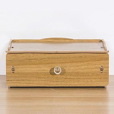 佶之屋 木質DIY單層多功能抽屜小物收納盒
