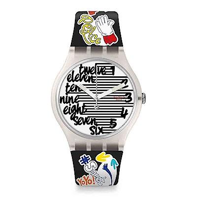 Swatch THINK FUN系列 STREETY 街頭時尚手錶