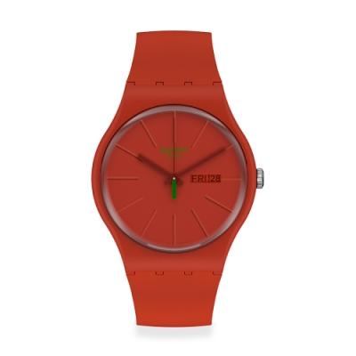 Swatch New Gent 原創系列手錶 REDVREMYA 時尚通勤-41mm