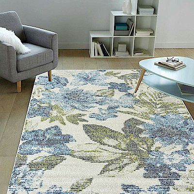 Ambience 比利時Blossom現代地毯-藍卉(160x230cm)
