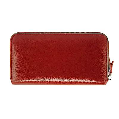 Sun peache經典單拉鍊長夾包-PH28013紅色