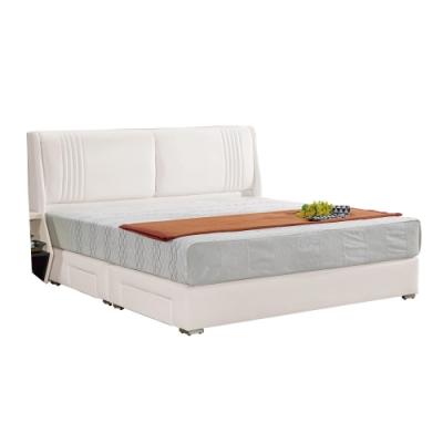 文創集 林德5尺床台(二色+床頭片+四抽床底+不含床墊)-162x212x107免組
