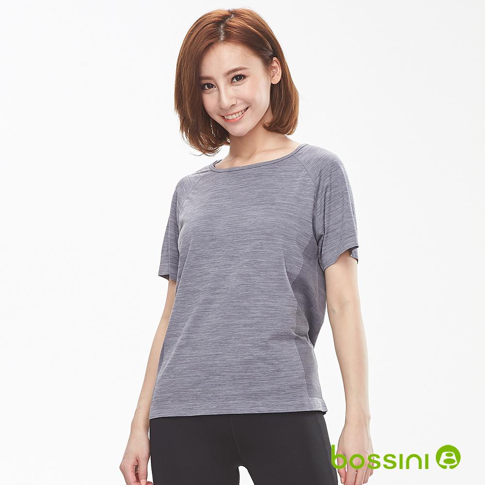 bossini女裝-無縫圓領短袖T恤01麻灰