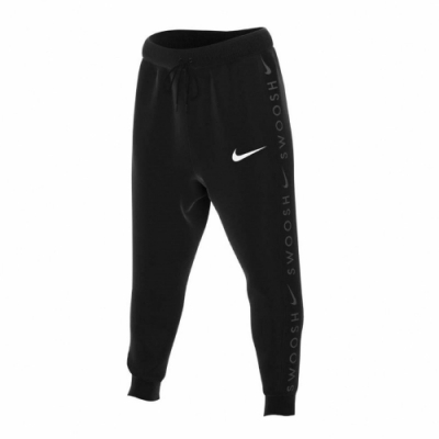 Nike 長褲 Semi-Brushed Back 男款 運動休閒 棉褲 縮口褲 口袋 抽繩 穿搭 黑 白 DA0085010