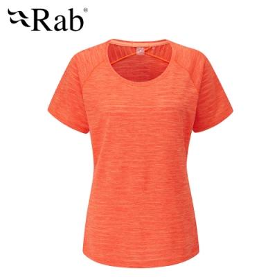 【英國 RAB】Wisp Tee 圓領透氣短袖T恤 女款 葡萄柚 #QBL12