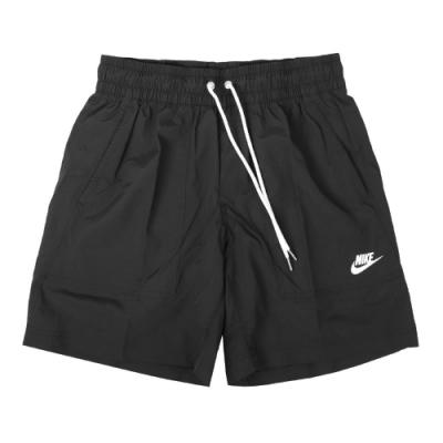 Nike 短褲 NSW Woven Shorts 男款 基本款 運動休閒 膝上 尼龍 穿搭 黑 白 CU4472010