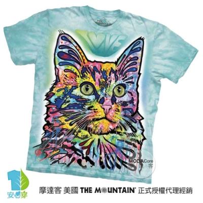 摩達客(預購)美國進口The Mountain 彩繪安哥拉貓 純棉環保短袖T恤