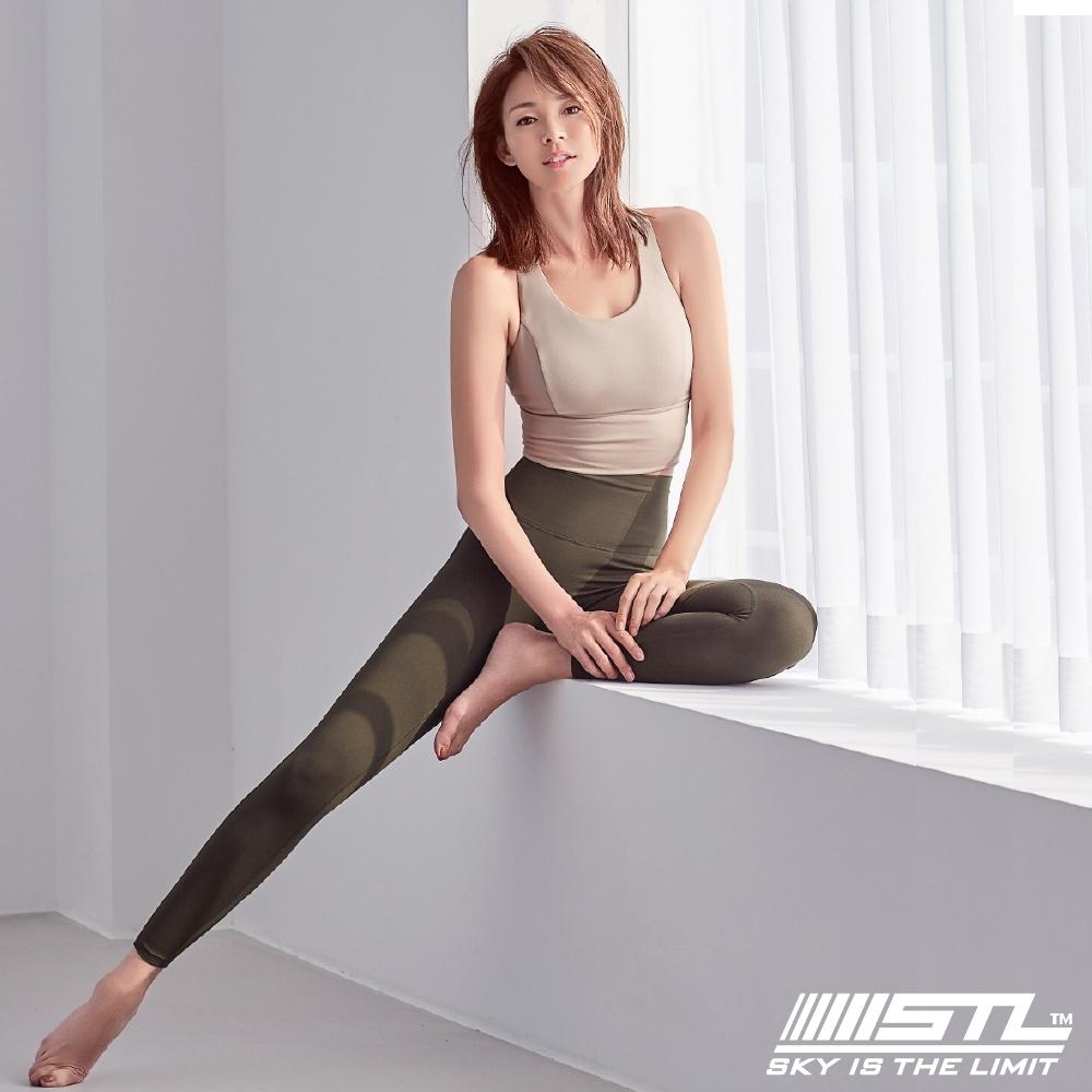 STL Yoga Leggings Free Line 9 韓國瑜珈『無尷尬線』 高腰壓腹 訓練拉提緊身褲 自由曲線 深可可 重訓/路跑/登山/瑜珈