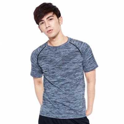 【AIRWALK】麻花線條設計圓領T恤-灰色